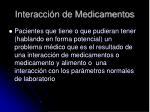 interacci n de medicamentos