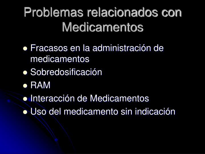 Problemas relacionados con Medicamentos