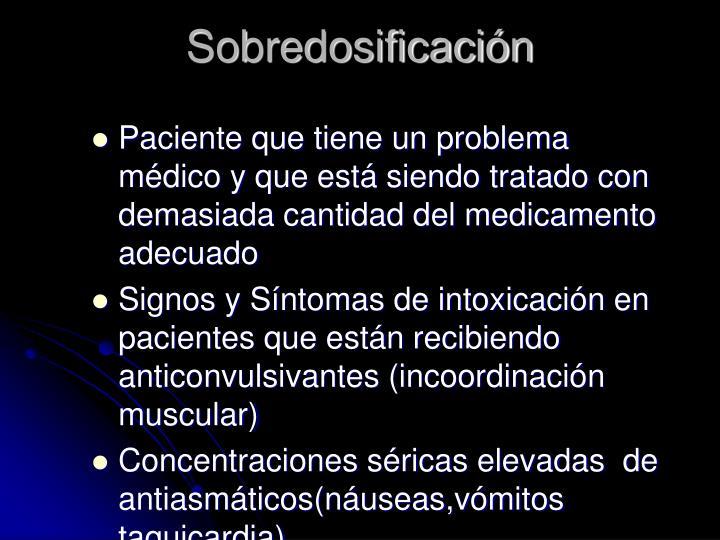 Sobredosificación