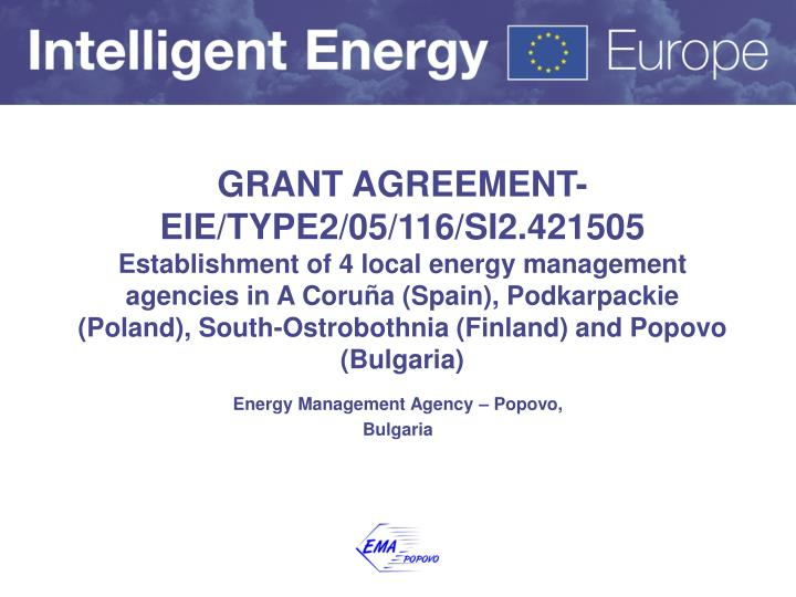 Energy management agency popovo bulgaria