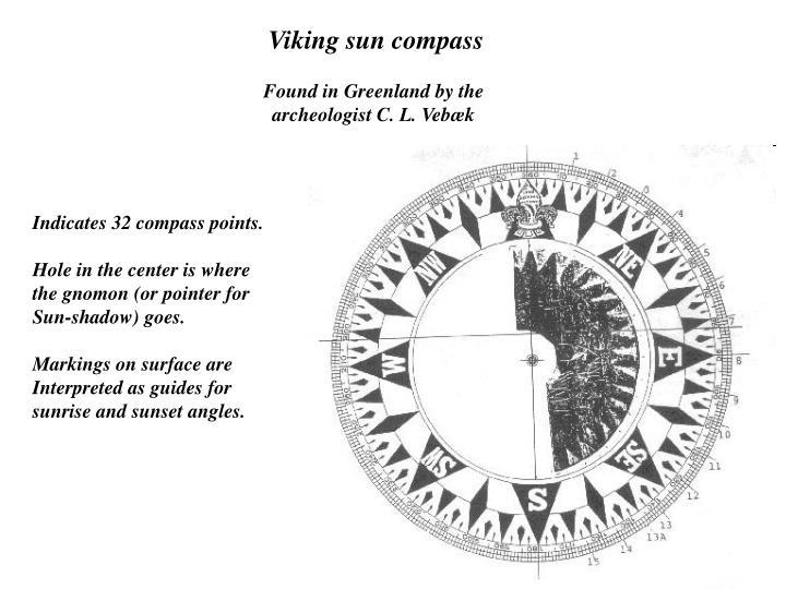 Viking sun compass