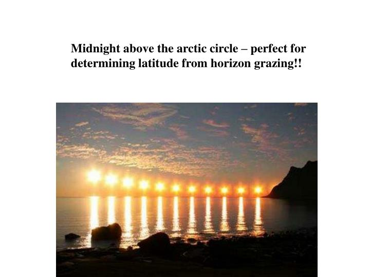 Midnight above the arctic circle – perfect for