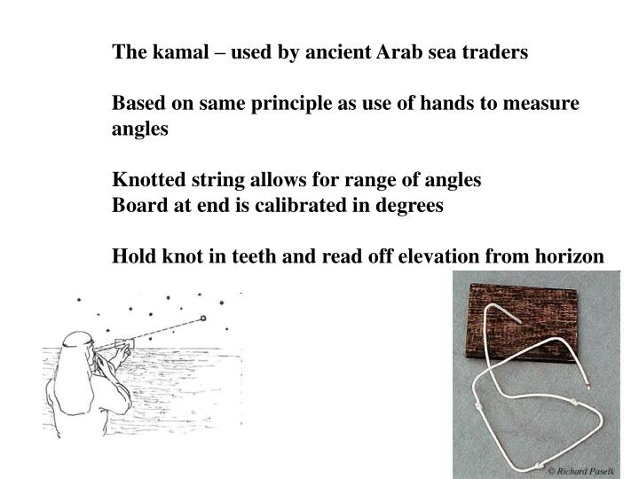 The kamal – used by ancient Arab sea traders