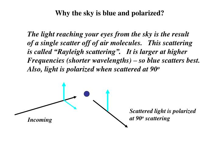 Why the sky is blue and polarized?