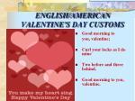 english american valentine s day customs
