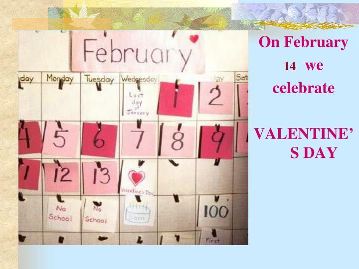 On February
