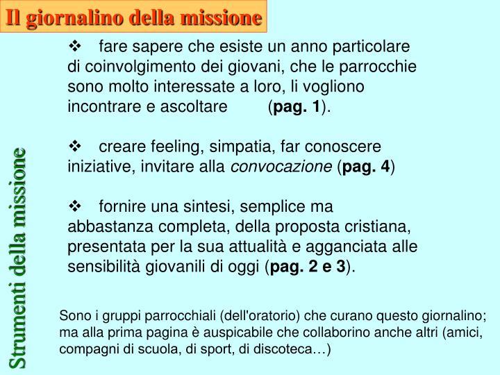 Il giornalino della missione
