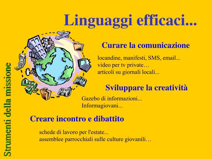 Linguaggi efficaci...