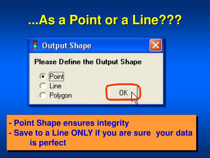 ...As a Point or a Line???