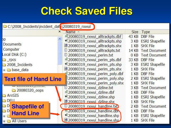 Check Saved Files