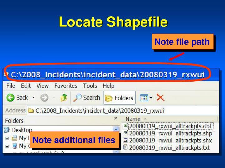 Locate Shapefile