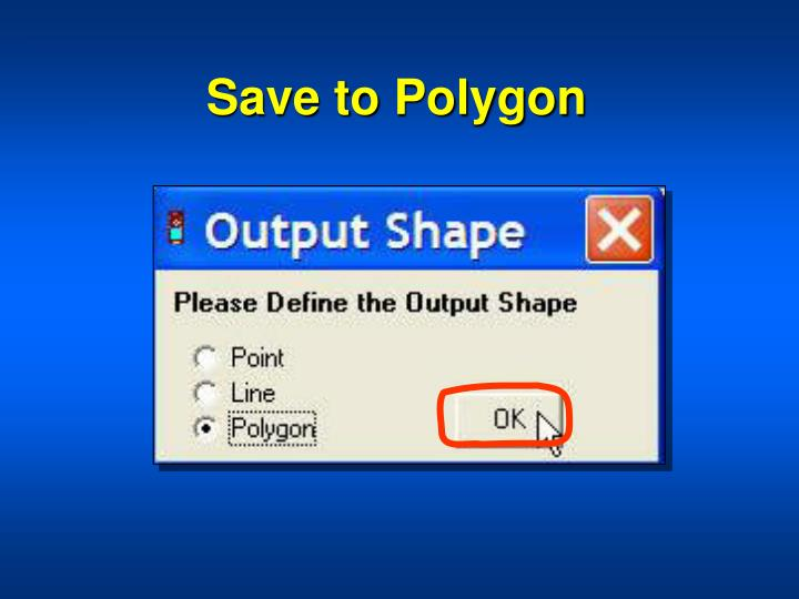 Save to Polygon