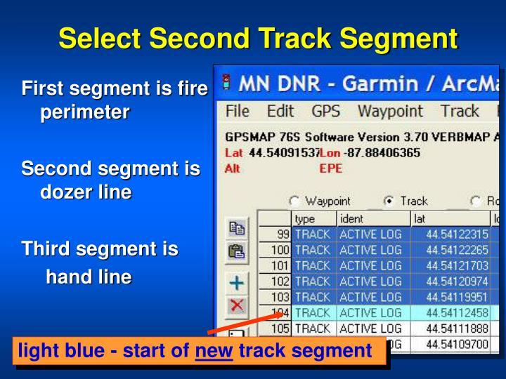 Select Second Track Segment