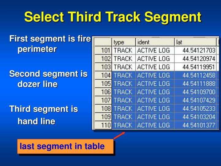 Select Third Track Segment