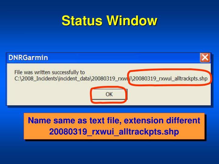 Status Window
