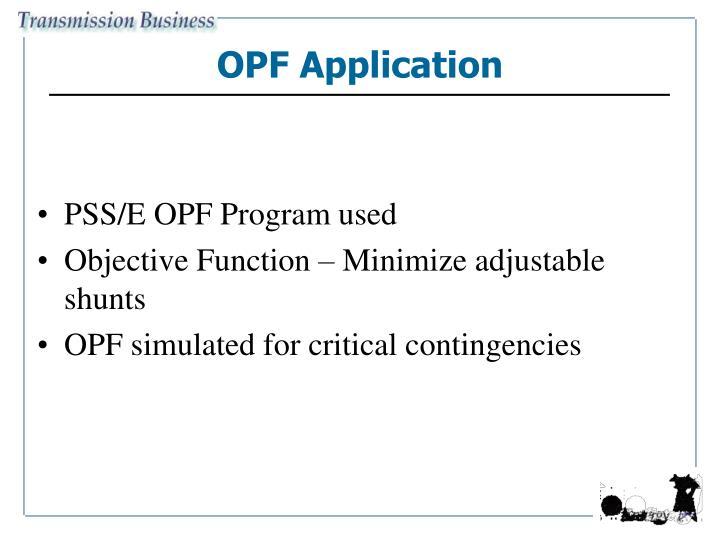 OPF Application