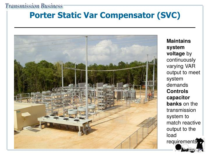 Porter Static Var Compensator (SVC)