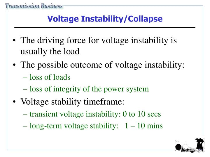 Voltage Instability/Collapse