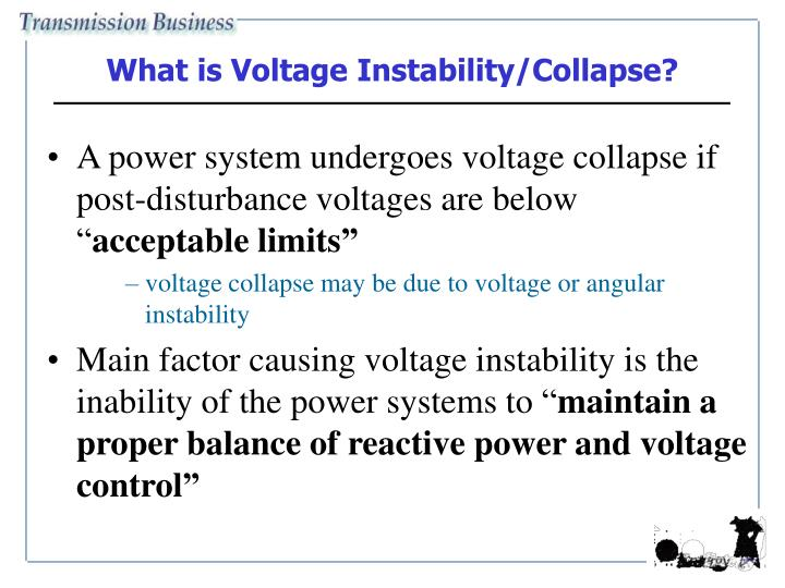 What is Voltage Instability/Collapse?