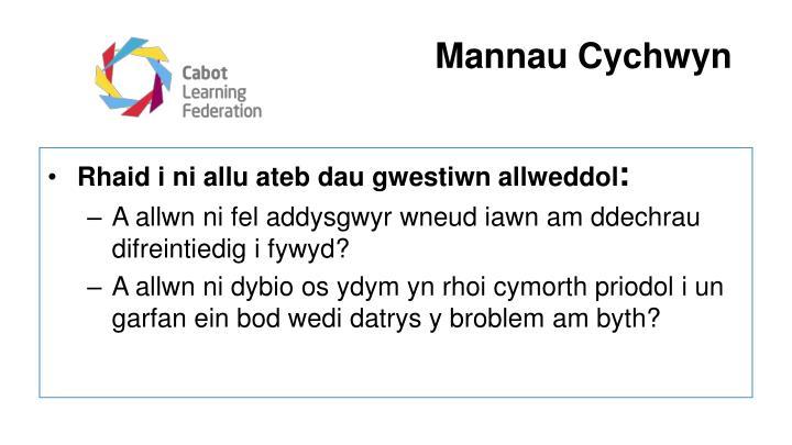 Mannau Cychwyn