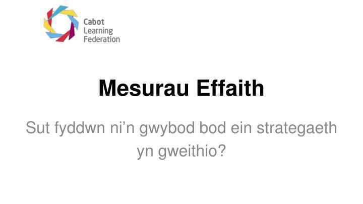 Mesurau Effaith