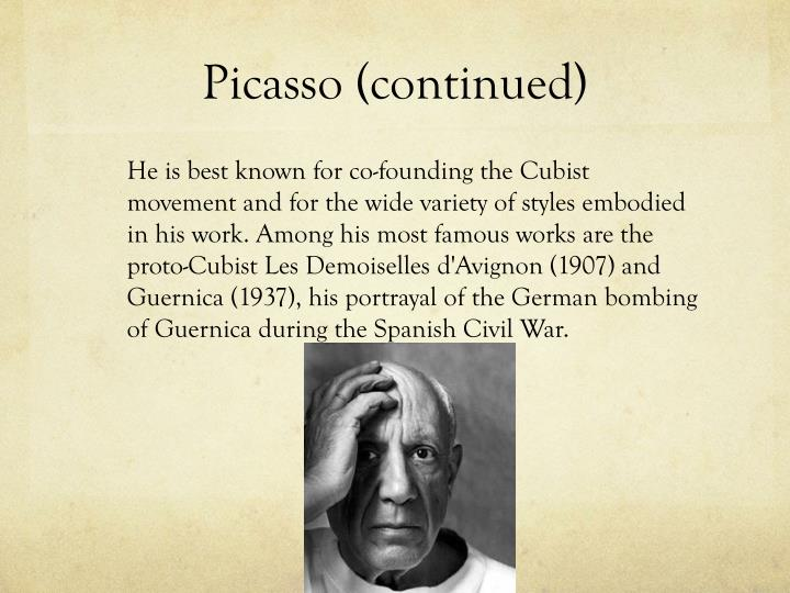 Picasso (continued)