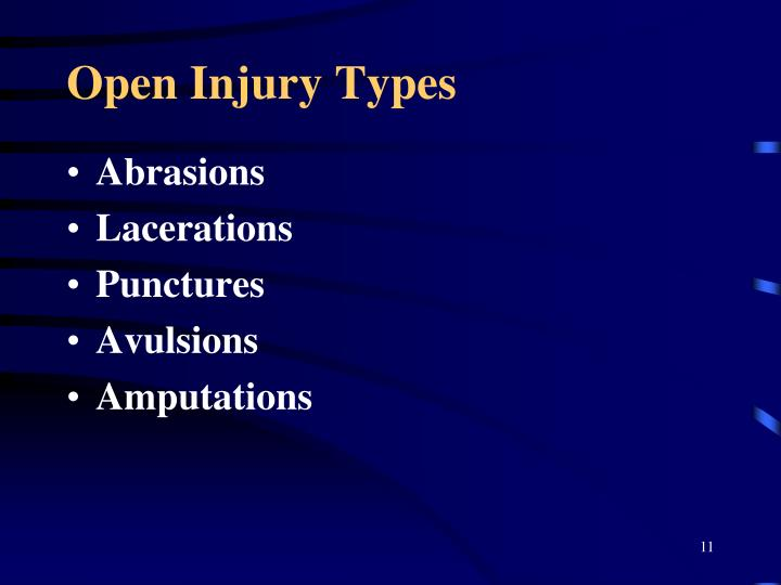 Open Injury Types