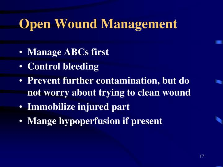 Open Wound Management