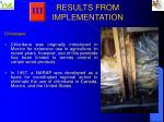 results from implementation