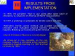 results from implementation3