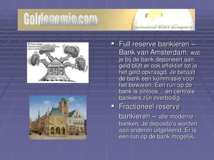 Full reserve bankieren –
