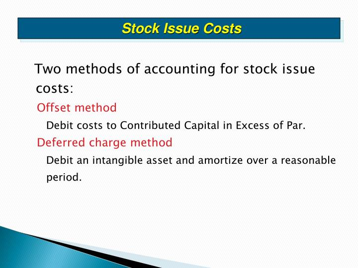 Stock Issue Costs