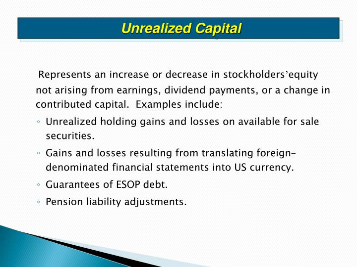 Unrealized Capital