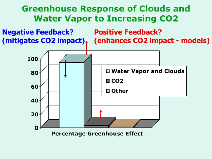 Greenhouse Response of Clouds and Water Vapor to Increasing CO2
