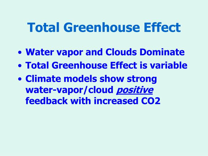 Total Greenhouse Effect