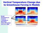 vertical temperature change due to greenhouse forcing in models