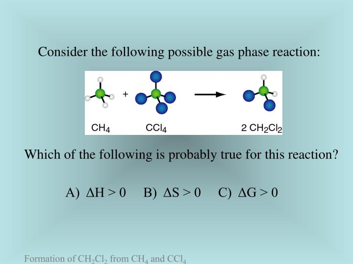 Consider the following possible gas phase reaction: