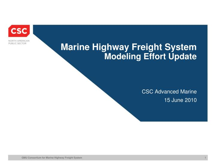 Marine Highway Freight System