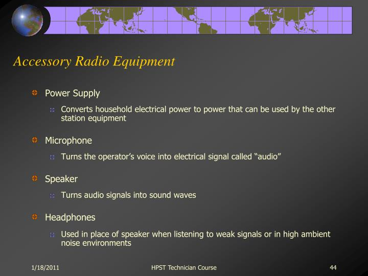 Accessory Radio Equipment