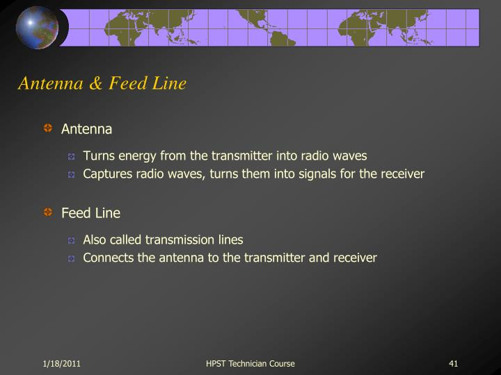 Antenna & Feed Line
