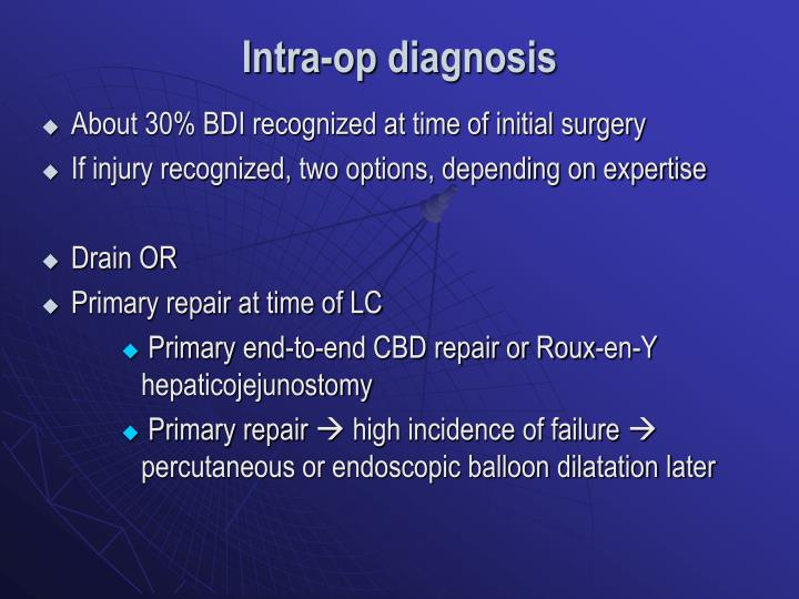 Intra-op diagnosis