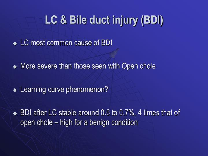 LC & Bile duct injury (BDI)