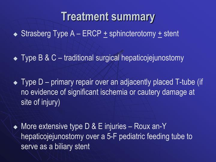 Treatment summary