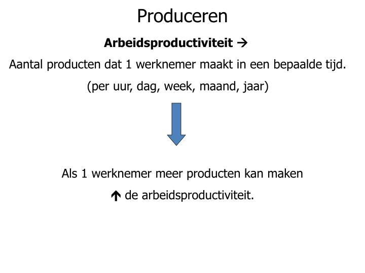 Produceren