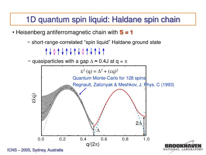"short-range-correlated ""spin liquid"" Haldane ground state"