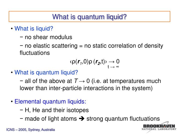 What is quantum liquid