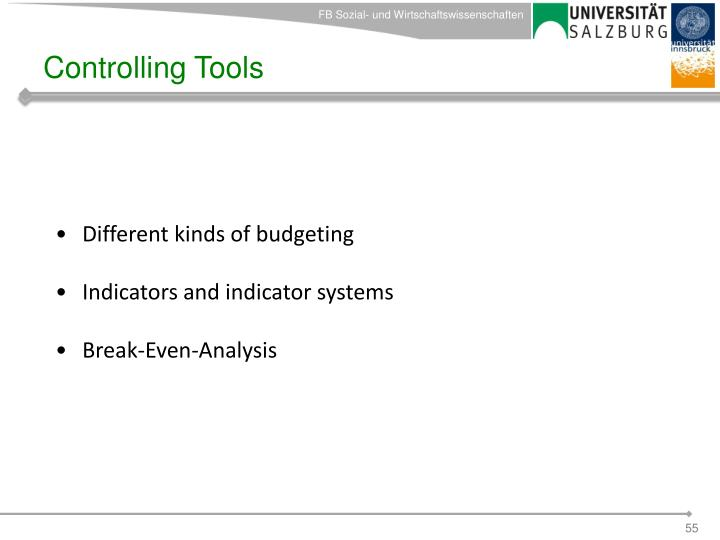 Controlling Tools