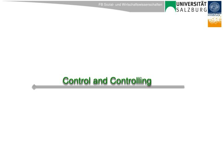 Control and