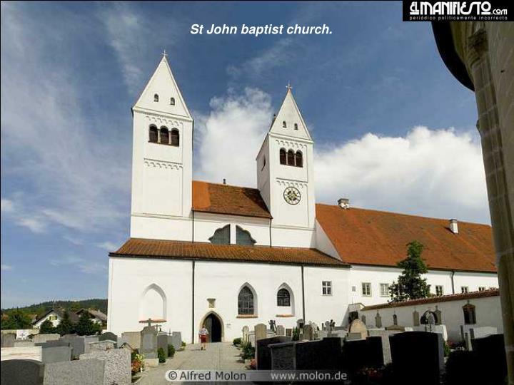St John baptist church.