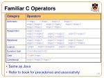 familiar c operators